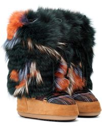 Army by Yves Salomon X Moon Boot® Fur Ankle Boots - Black