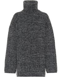 Acne Studios Ribbed-knit Wool Turtleneck Sweater - Gray
