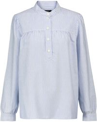 A.P.C. Striped Cotton Blouse - Blue