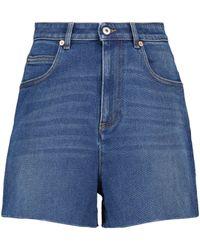 Valentino High-rise Denim Shorts - Blue