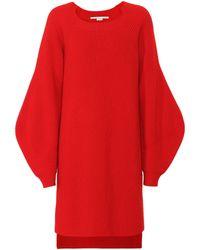 Stella McCartney Jersey túnica de lana acanalada - Rojo