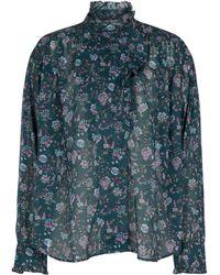 Étoile Isabel Marant Blusa Pamias de gasa de algodón floral - Verde