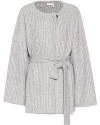 See By Chloé Cotton And Wool-blend Cardigan - Gray
