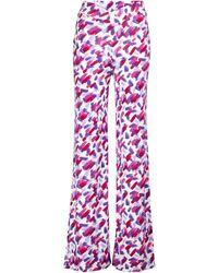 ROTATE BIRGER CHRISTENSEN Cabaret Printed Straight-leg Trousers - Multicolour
