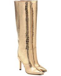 Jimmy Choo Stiefel Mavis 100 aus Leder - Mettallic