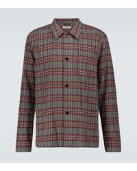 Our Legacy Box Long-sleeved Plaid Shirt - Brown