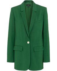 Isabel Marant Blazer Oratelia botonadura simple - Verde