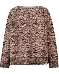 Alaïa Leopard-jacquard Sweater - Brown