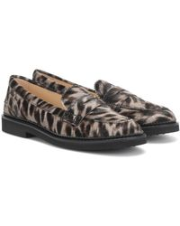 Tod's Exclusive To Mytheresa – Cheetah-print Calf Hair Loafers - Multicolour