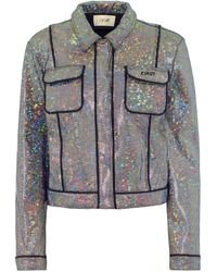 Kirin Embellished Stretch-cotton Jacket - Grey