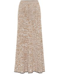 JOSEPH Sally High-rise Ribbed Skirt - Natural