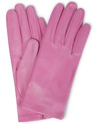 Dries Van Noten Handschuhe aus Leder - Pink