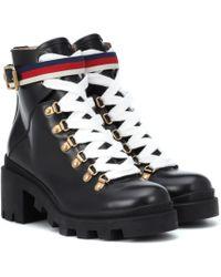 Gucci - Black Lug Sole Trip Hiking Boots - Lyst