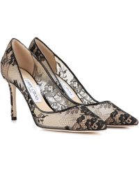 Jimmy Choo Romy 85 Lace Court Shoes - Black