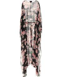 Giambattista Valli Floral-print Silk Kaftan - Black
