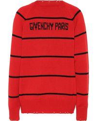 Givenchy Jersey en mezcla de lana - Rojo
