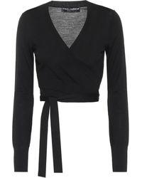 Dolce & Gabbana Cardigan cache-cœur en laine vierge - Noir