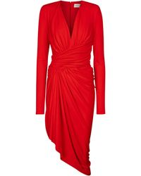 Alexandre Vauthier Miniabito in jersey stretch - Rosso