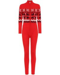 Perfect Moment Nordic Merino Wool Jumpsuit - Red