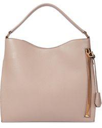 Tom Ford Alix Small Leather Shoulder Bag - Natural