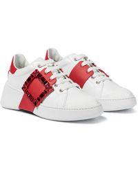 Roger Vivier Sneakers Viv' Skate aus Leder - Rot