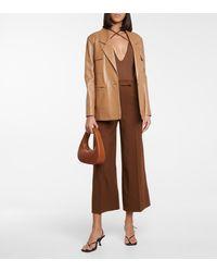 Zeynep Arcay V-neck Knit Bodysuit - Brown