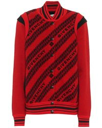 Givenchy Bomber in jacquard di lana - Rosso