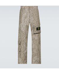 Stone Island Rain Camo Reflective Cargo Trousers - Natural