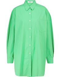 Frankie Shop Oversize-Hemd Melody aus Baumwolle - Grün