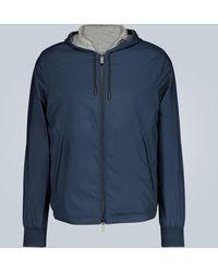 Ermenegildo Zegna Breeze Breaker Reversible Jacket - Blue