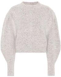 Isabel Marant Pullover Elaya in alpaca e lana - Grigio