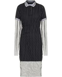 Y. Project - Striped Cotton And Tulle Midi Dress - Lyst