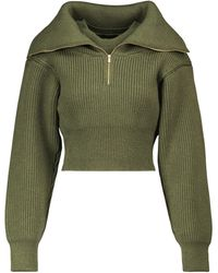 Jacquemus Pullover cropped Risoul in lana - Verde