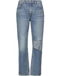 RE/DONE Jeans 70s Straight de tiro alto - Azul