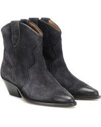 Isabel Marant Dewina Suede Ankle Boots - Black