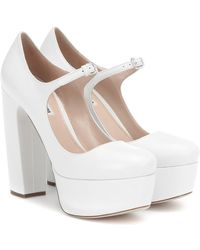 Miu Miu Pumps Mary Jane in pelle - Bianco