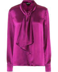 Tom Ford Schluppenbluse aus Satin - Pink