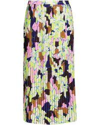 Dries Van Noten Falda midi Sarean de crepé estampada - Multicolor