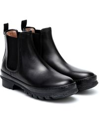 LEGRES Garden Leather Ankle Boots - Black