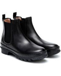 LEGRES Ankle Boots Garden aus Leder - Schwarz