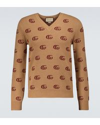 Gucci Pullover GG aus Jacquard-Wolle - Mehrfarbig