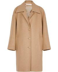 Palm Angels Wool-blend Coat - Natural