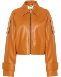 134e541c1 Leather Jacket - Brown