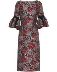 Erdem Alexandra Brocade Dress - Multicolour