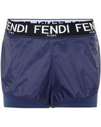 Fendi Bedruckte Shorts - Blau