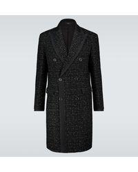 Amiri Manteau croisé en laine technique - Noir
