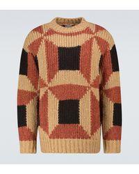Dries Van Noten Oversize-Pullover aus Wollgemisch - Natur