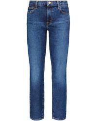 J Brand - Jeans rectos Adele de tiro medio - Lyst