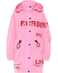 Burberry Parka con estampado Horseferry - Rosa