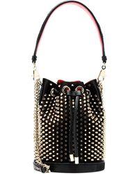 Christian Louboutin Marie Jane Embellished Bucket Bag - Black